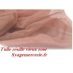Tissu Résille Lycra Au Mètre En Couleur Vieux Rose A Coudre.
