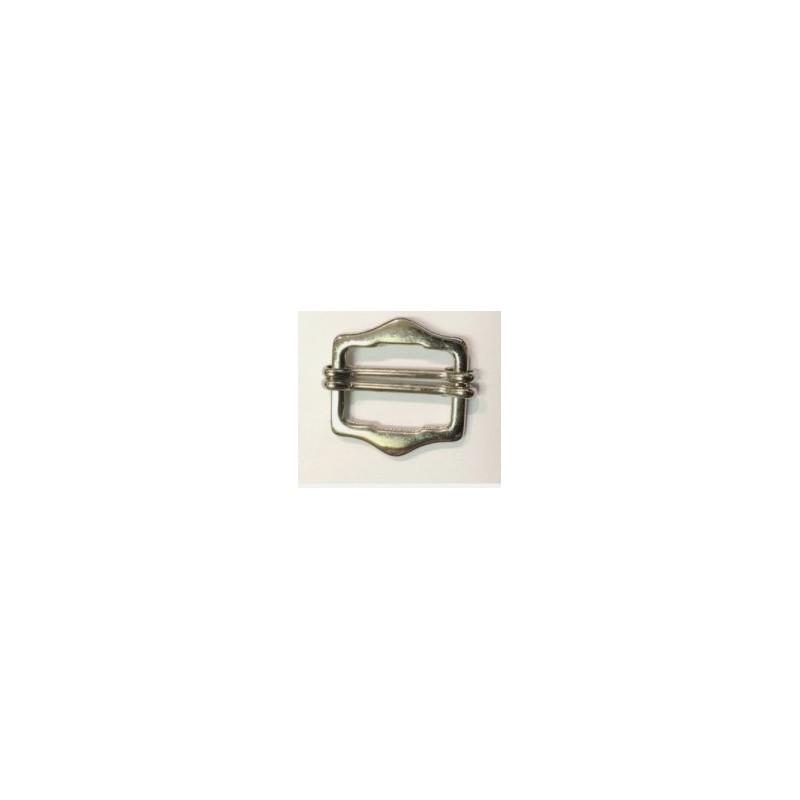 Boucle Coullissante En 2.5 Cm Métal Colori Argent, Noir , Ou Bronze A Coudre