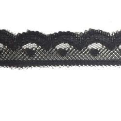 Dentelle Au Mètre en noir en 2 cm festonné