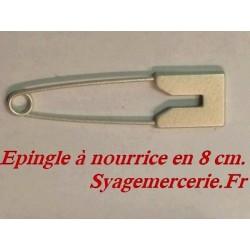 Epingle A Nourrice En 8 Cm couleur Ecru Pour Décorations De Vetements.