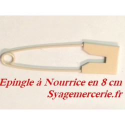 Epingle à nourice en 8 cm Couleur saumon Pour Décorations De vetements