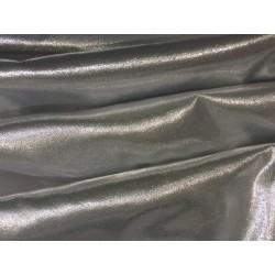 Tissu Lamé Laser Au Mètre En Couleur Argent Lurex, Pour Décorations, Et Customisations.
