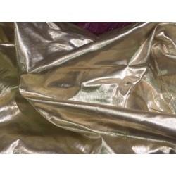 tissu lamé laser au mètre en couleur doré or en 1 m 10.