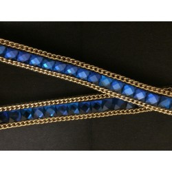 Ruban Strass Au Mètre En 15mm Bleu