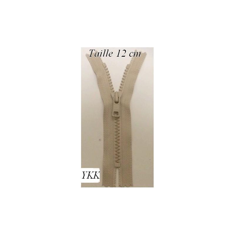 Zip Fermeture Eclair à Glissière en Maille Injecté à Coudre en 12 cm Beige.