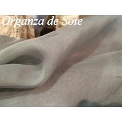Tissu Organza De Soie Gris Au Mètre Couture.