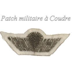 Insigne, Emblème Militaire, Applique En Sequins Argent, A Coudre