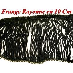 Frange Charleston Rayonne En 10 Cm Noir Au Mètre A Coudre Pour Loisirs Créatifs.
