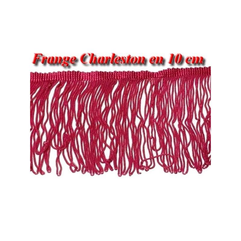 Frange Charleston Rayonne En 10 Cm Rouge Cassis Au Mètre A Coudre, Pour Loisirs Créatifs Et Déguisements