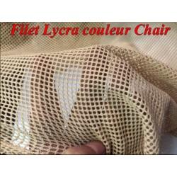Filet Lycra au Mètre Couleur Chair Largeur De 1 mètre 10 Pour Danse Et Lingerie.