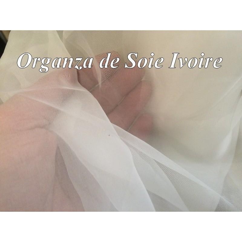 Tissu Organza de Soie au Mètre ivoire