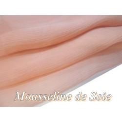 Tissu Mousseline De Soie Saumon Au Mètre.