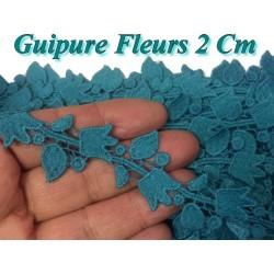 Guipure Au Mètre en 2 cm En Vert Canard, A Coudre Pour Loisirs Créatifs, Customisations.
