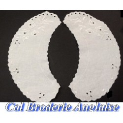 Col En Broderie Anglaise Blanc A coudre.