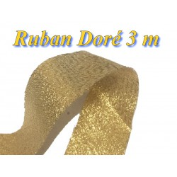Ruban Lurex au mètre En Doré De Largeur 3 cm A Coudre.