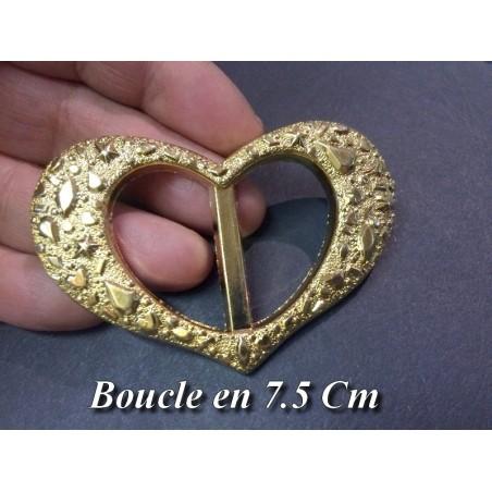 Boucle Ceinture doré or En Forme De coeur En 7.5 Cm A Coudre.