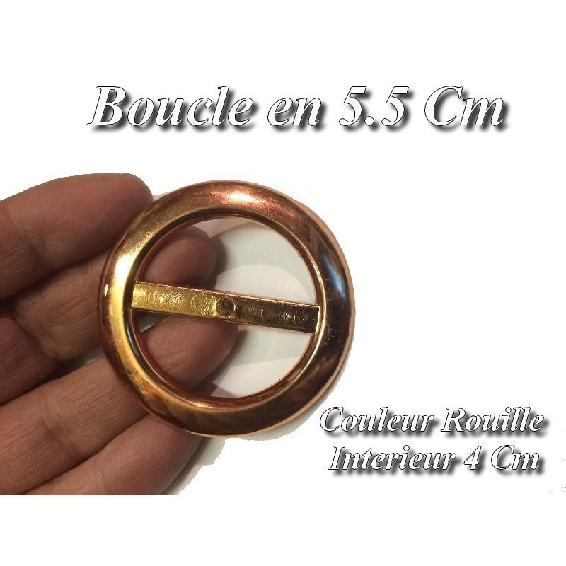 Boucle Ceinture Ronde Rouille En 5.5 Cm A Coudre.