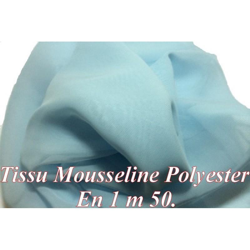 Tissu Mousseline Au Mètre Polyester Ciel A Coudre.