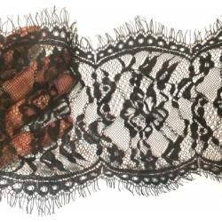 Dentelle Chantilly Couture Noir En 15 cm Pour Customisations, Et Loisirs Créatifs.