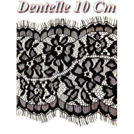 Dentelle Chantilly Fine Pour La Couture En 10 Cm Noir.