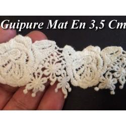 Guipure Au Mètre en 3.5 cm Ecru Mat A Coudre Pour Loisirs Créatifs.