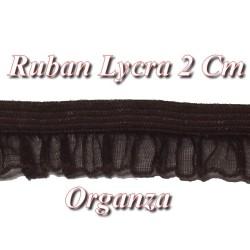 Galon Ruban Organza Lycra Marron En 2 Cm A Coudre Pour Loisirs Créatifs Et Lingerie.