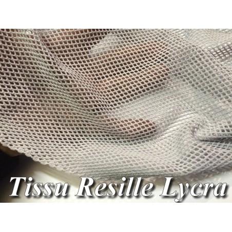 Tissu Filet Lycra Gris Au Mètre En 1 Mètre 10 De Largeur Pour Danse, Lingerie.