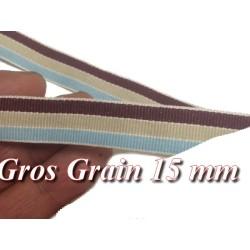 Ruban Gros Grain 15 mm Multicolor A Coudre Pour Loisirs Créatifs Et Décorations.