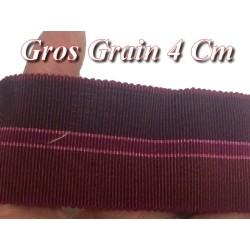 Ruban Gros Grain En 4 cm Bordeaux A Coudre Pour Loisirs Créatifs Et Décorations.