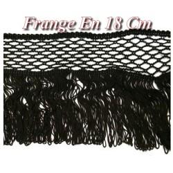 Frange Charleston En 18 Cm Noir Rayonne Au Mètre A Coudre Pour Loisirs Créatifs.