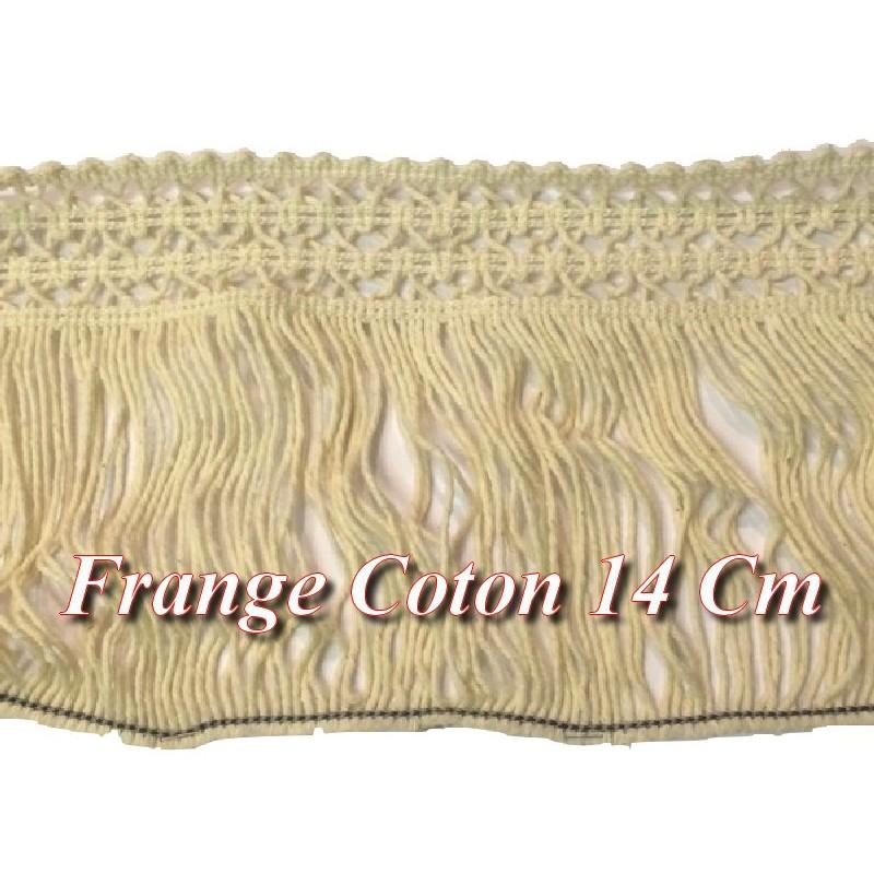 Frange Charleston En 14 Cm Ecru Coton Au Mètre A Coudre Pour Loisirs Créatifs.