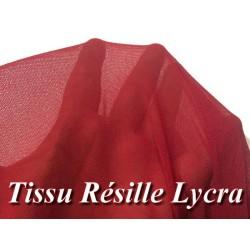 Tissu Résille Lycra Au Mètre En Couleur Rouge A Coudre.