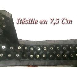 Ruban Résille Noir en 7,5 Cm Au Mètre A Coudre, Pour Lingerie Et Customisations.