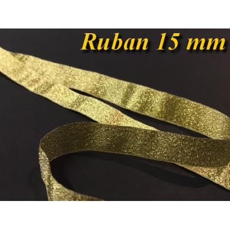 Ruban Lurex Au Mètre En Doré - Or De Largeur 15 mm A Coudre Pour Loisirs Créatifs Et Décorations.