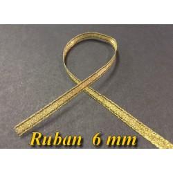 Ruban Lurex En 6 MM Doré - Or A Coudre Pour Loisirs Créatifs Et Décorations.