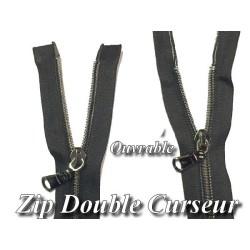 Zip Fermeture Eclair à Glissière en Maille 6 Bronze en 55 cm ouvrable à Coudre
