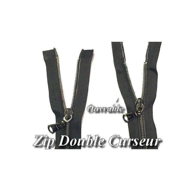 Zip Fermeture Eclair à Glissière en Maille bronze en 55 cm ouvrable à Coudre