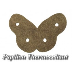Ecusson Patch En Forme De Papillon Marron Thermocollant Pour Décorations Et Customisations.