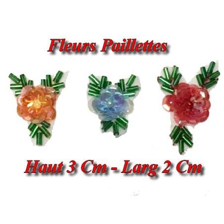 Fleurs A Coudre en Paillette Et Sequins Pour Décorations Et Customisations.