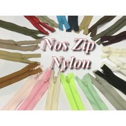 Zip Fermeture Eclair A Glissière Nylon 20 Cm A Coudre.