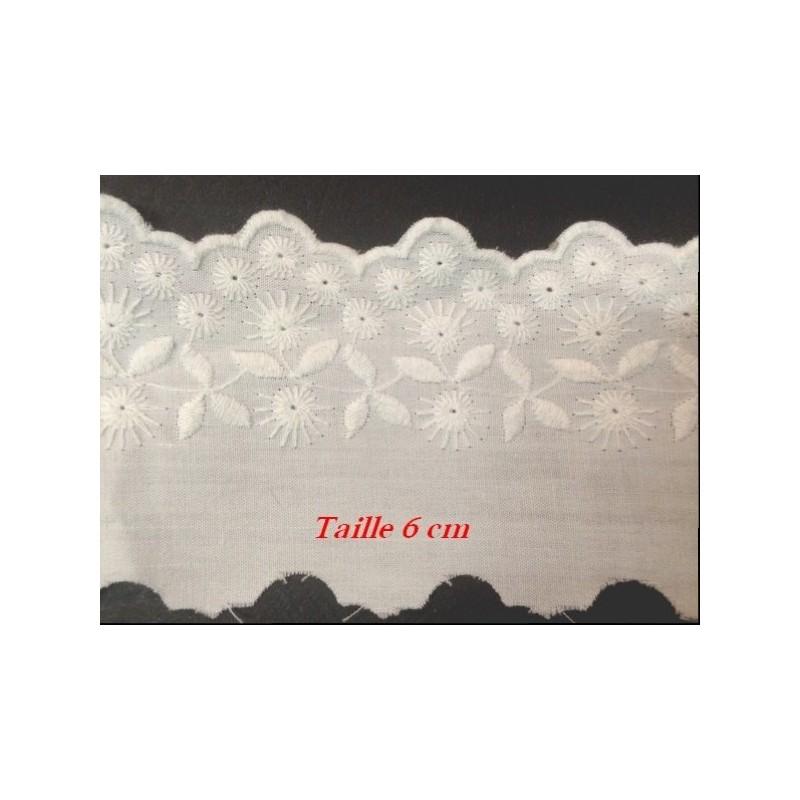 Broderie Anglaise Coton Au Mètre En 6 cm Avec Choix De Couleurs A Coudre.