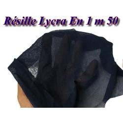 Tissu Résille Lycra Au Mètre En Couleur Marine Pour Justaucorps.