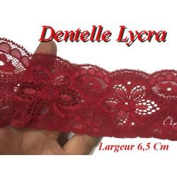 Dentelle Lycra Au Mètre En 6,5 Cm Rouge Pour Lingerie Et Loisirs Créatifs