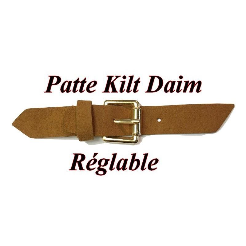 Patte Kilt Attache en Simili Cuir avec Boucle Couleur Canon De Fusil à Coudre Pour Décorations Robes, sacs, Customisations.