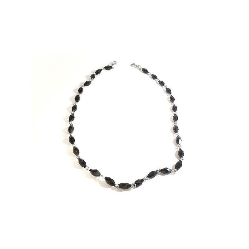 Collier En Perles Noir pour Décorations Et Customisations