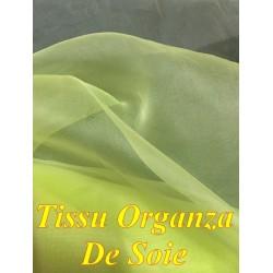 Tissu Organza De Soie Jaune Au Mètre Couture.