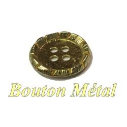 Bouton Doré En Taille 18 mm Ou 22 mm Métal 4 Trous, A Coudre.