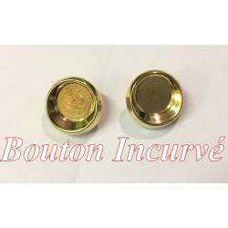 Bouton doré Fantaisie Incurvé A Coudre En Taille 18 mm Pour customisations.
