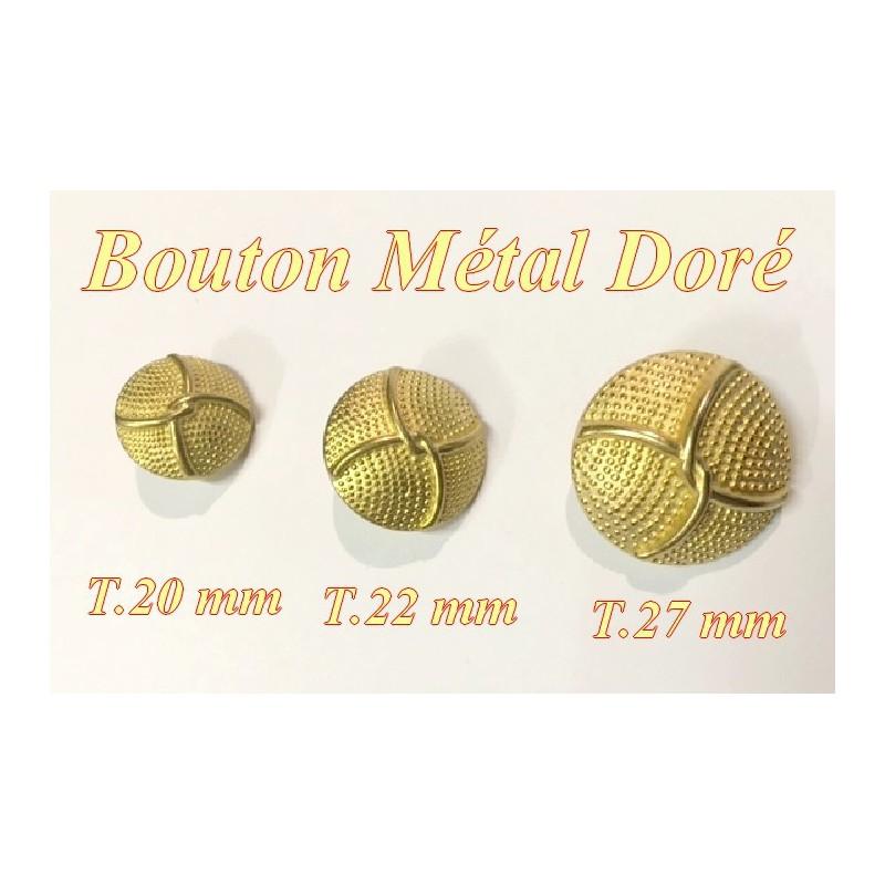 Bouton Doré Métal Style Chanel A Coudre En Taille 20 mm , 22 mm Et 27 mm.