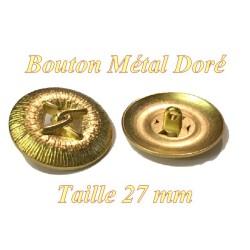 Bouton Doré Métal Style Chanel A Coudre En Taille  27 mm.